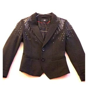H&M black bedazzled Blazer